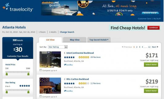 Travelocity Hotel Flexible