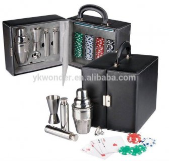 Stainless steel travel bar set