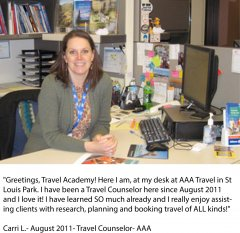 Carri- Travel Counselor at AAA