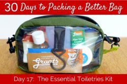 Day 17: The essential toiletries kit.