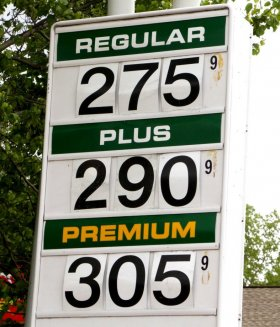 Gas prices are advertised at a Hess station on Route 9 Wednesday, May 20, 2015, in Colonie, N.Y. (Olivia Nadel/Special to the Times Union) Photo: ON
