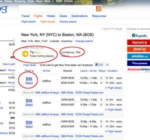 Travel fares Bing