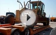 HEAVY HAUL TV: Unloading the CAT grader in Baltimore, MD