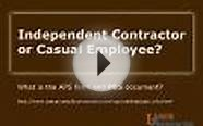 Independent Contractor or Casual Employee?