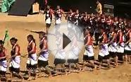 Pochury women in colourful attire performs at Naga