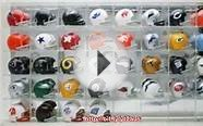 Pocket Pro Two-Bar Throwback Helmet Set with Display Case