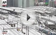 Raw: Snow Hampers Travel in Japan