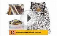 Wedding dress garment bag for travel, Destination Wedding Gown